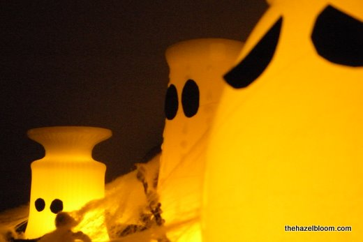 Boo ghostly vases