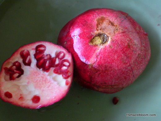 And the pomegranate goes for a dip