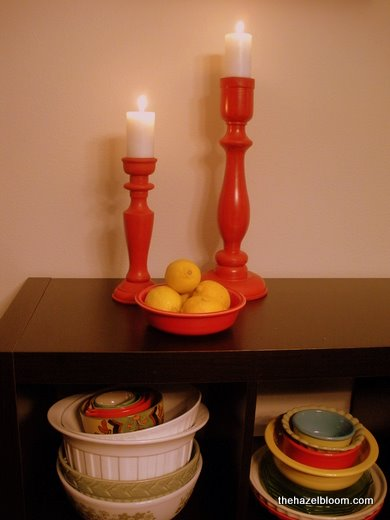 Happy red candlesticks