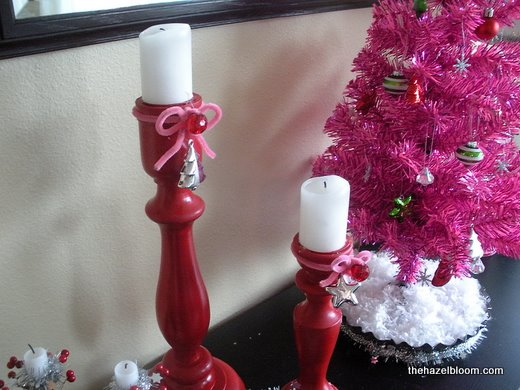 Dressed up candlesticks