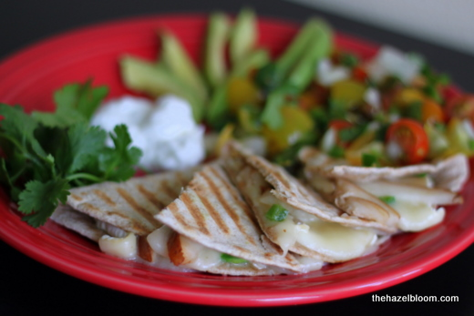 Pear and brie quesadillas again